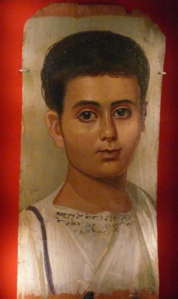 Portrait of the Boy Eutyches - Fayum portrait