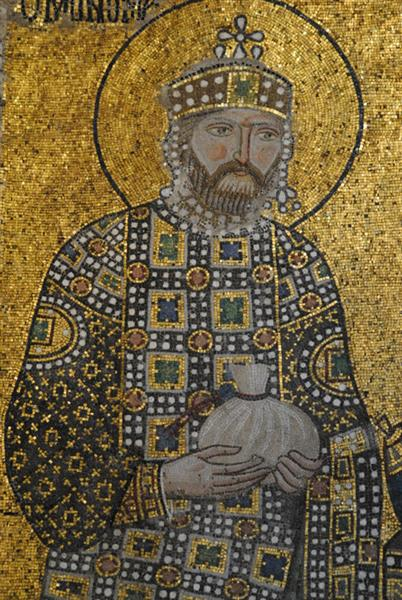 Mosaic of Emperor Constantine IX, c.1050 - Byzantine Mosaics