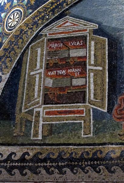 Martyrdom of St. Lawrence (detail), c.425 - Byzantine Mosaics