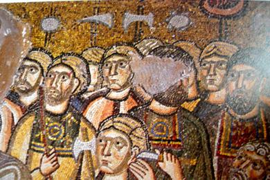 Arrest of Jesus, c.1056 - Byzantine Mosaics