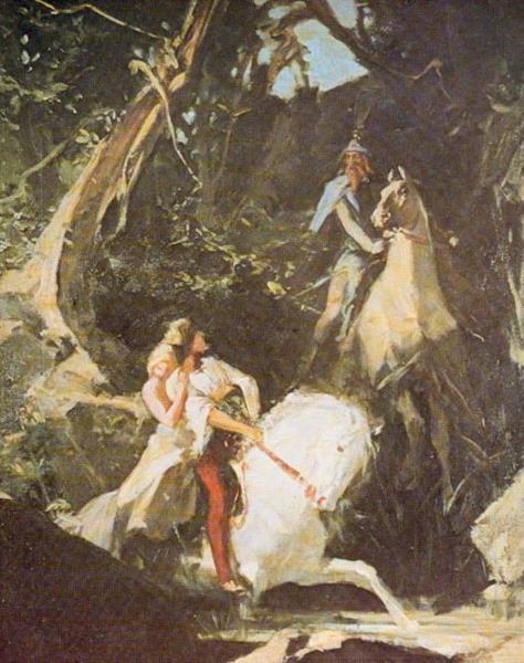 Milenci (setkání V Lese), 1885 - Maximilian Pirner