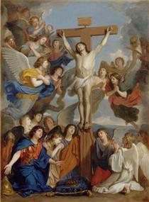 Le Crucifix Aux Anges - Charles Le Brun