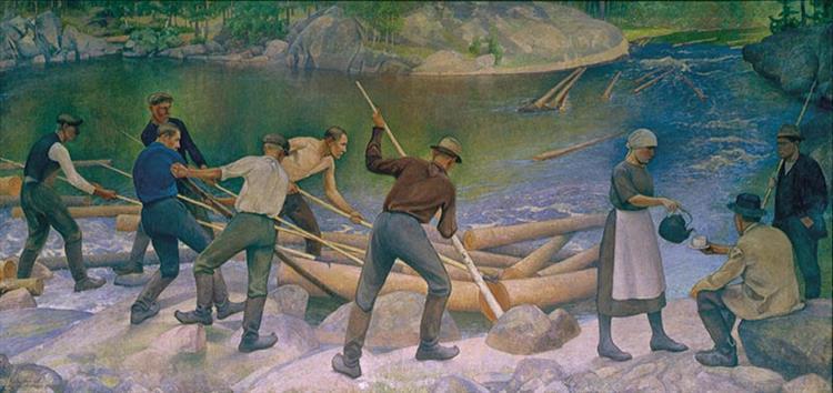 Tukinuittajat, 1925 - Halonen, Pekka