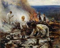 Under the Yoke (Burning the Brushwood) - Järnefelt, Eero