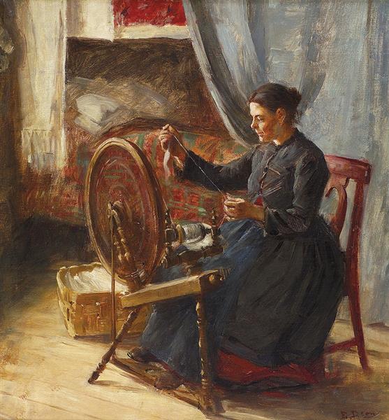 The spinner, c.1919 - Elin Danielson-Gambogi