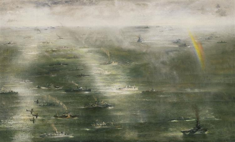 The Great Convoy to North Africa, November 1942, 1943 - Richard Eurich