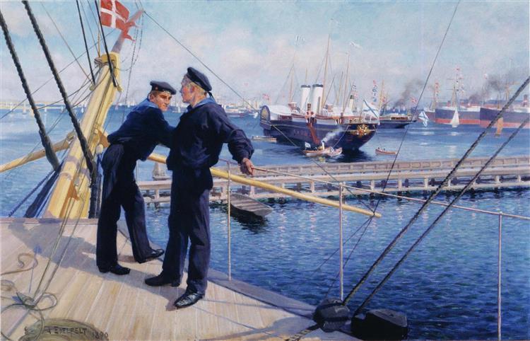 Från Köpenhamns Redd III - Albert Edelfelt