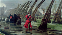 Cardinal Richelieu at the Siege of La Rochelle - Henri Motte