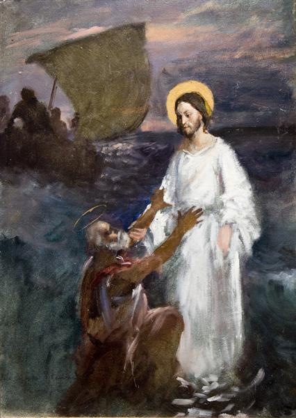 Christ Walks on Water, 1891 - Eero Järnefelt