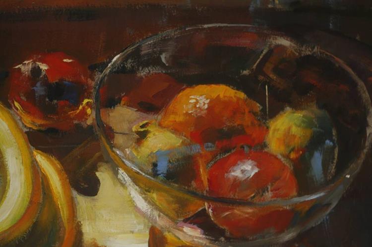 Owoce. Martwa natura z bananami - Czesław Jan Pyrgies