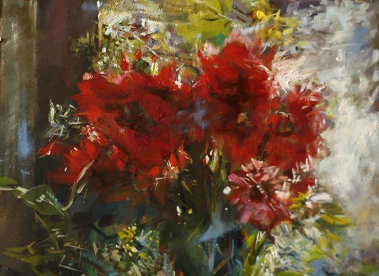 Kwiaty (fragment) - Czesław Jan Pyrgies