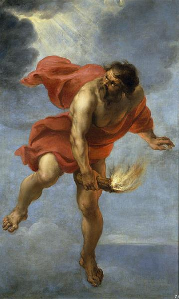 Prometheus Carrying Fire, 1637 - Jan Cossiers