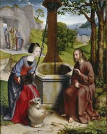 Christ and the Samaritan Woman at the Jacob's Well - Jan Joest