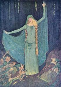"The Two Kings' Children"" in Grimms' Fairy Tales - Elenore Abbott"
