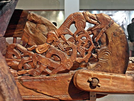 Carved Detail from the Oseberg Waggon - Північне мистецтво
