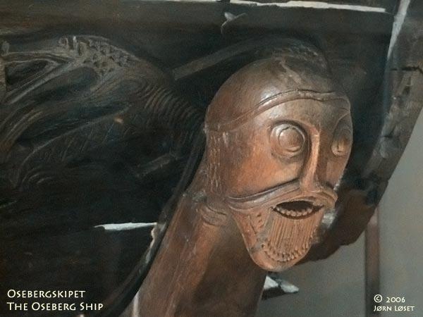 Oseberg Carved Head - Північне мистецтво