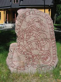 Runestone in Täby - Viking art