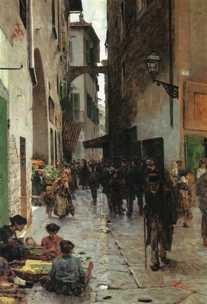 Ghetto of Florence, 1882 - Telemaco Signorini
