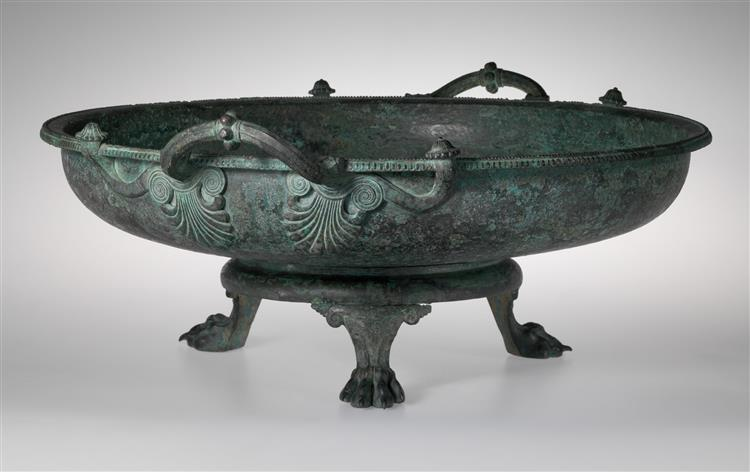 Bronze Footbath with Its Stand, c.400 BC - Ancient Greek Pottery