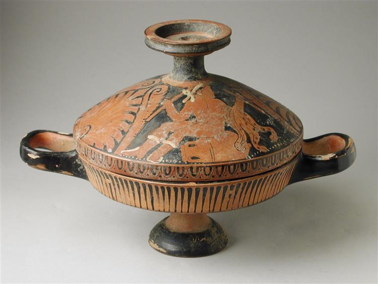Lekanis with Satyrs on the Lid, c.350 BC - Ancient Greek Pottery