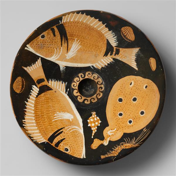 Terracotta Fish Plate, c.325 BC - Ancient Greek Pottery