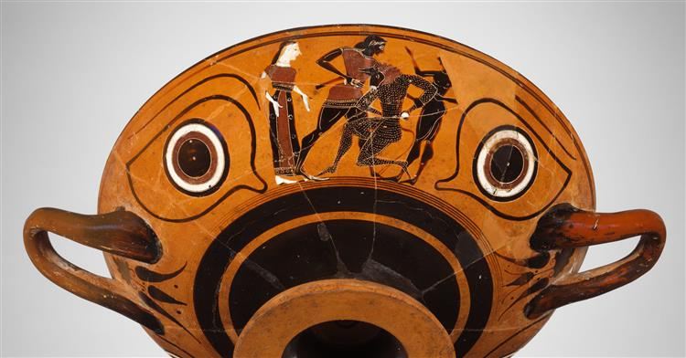 Terracotta Kylix, Eye Cup (drinking Cup), c.530 BC - Ancient Greek Pottery