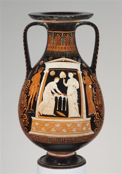 Terracotta Pelike (jar), c.310 BC - Ancient Greek Pottery