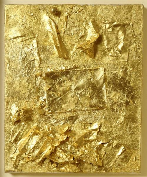 Untitled (Gold Painting), 1964 - Robert Rauschenberg