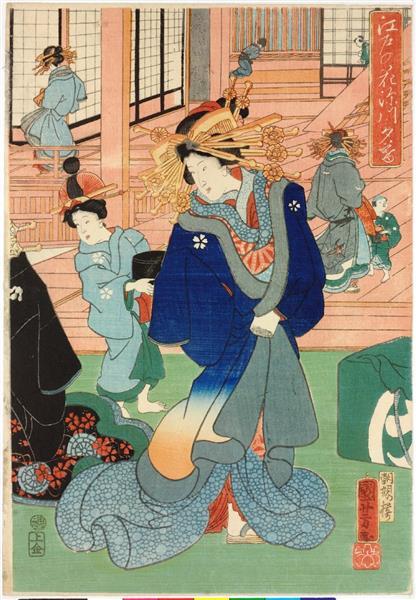 Flowers of Edo (Right), c.1860 - Utagawa Kuniyoshi