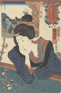 Volendo vedere la fioritura precoce - Utagawa Kuniyoshi