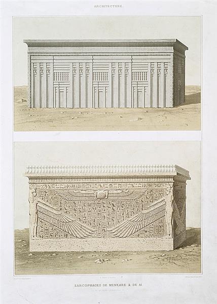 Architecture : sarcophages de Menkare & de Ai (IVe. et XVIIIe. dynasties), 1878 - Émile Prisse d'Avennes