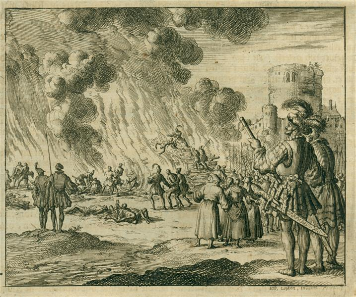 Burning of 180 Albigensians, AD 1210, 1685 - Jan Luyken