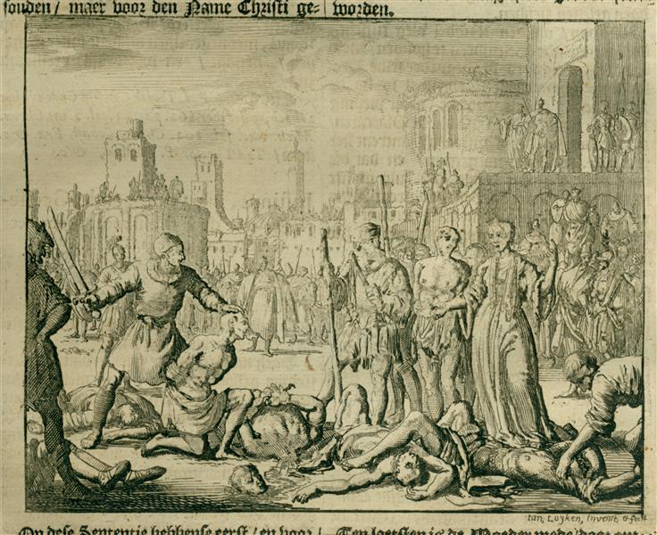 Felicitas Killed with Her 7 Sons, Rome, AD 104 - Jan Luyken
