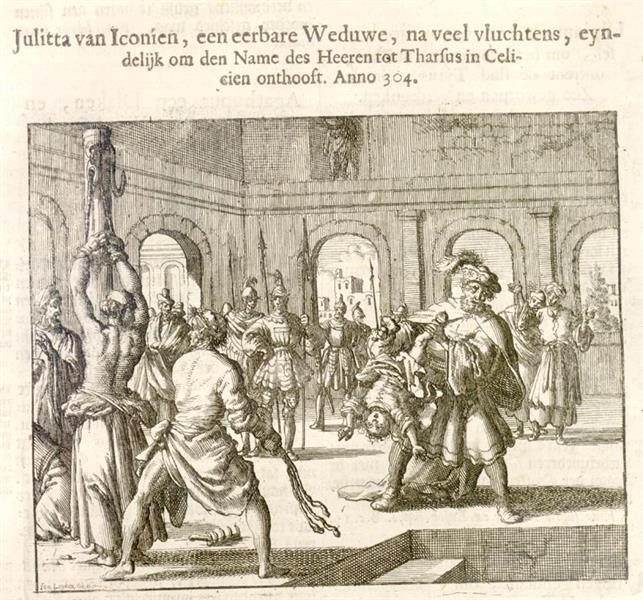 Jullieta Killed Along with Her Daughter, Tarsus, AD 304, 1684 - Jan Luyken