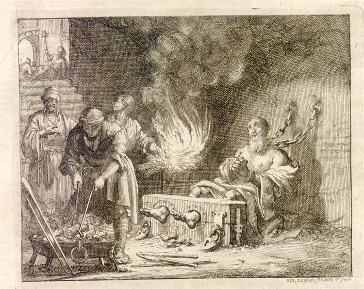 Torture of Origen, Alexandria, AD 234 - Jan Luyken