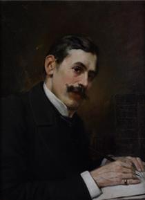 Portrait of prof. Ivan Shishmanov - Ivan Mrkvička