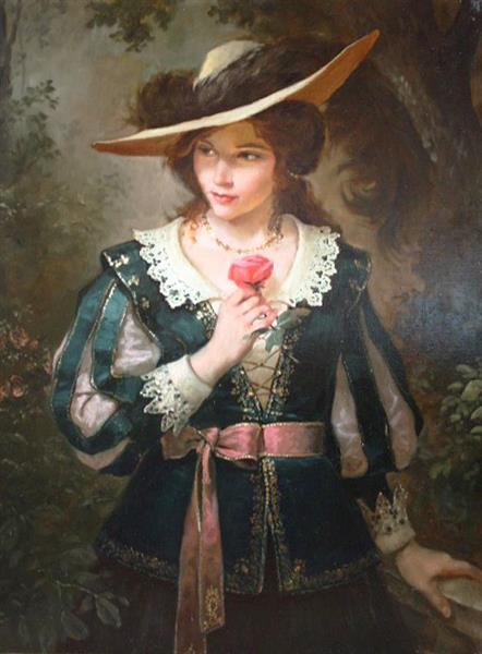 Дама с розой, 2010 - Andrey Shishkin