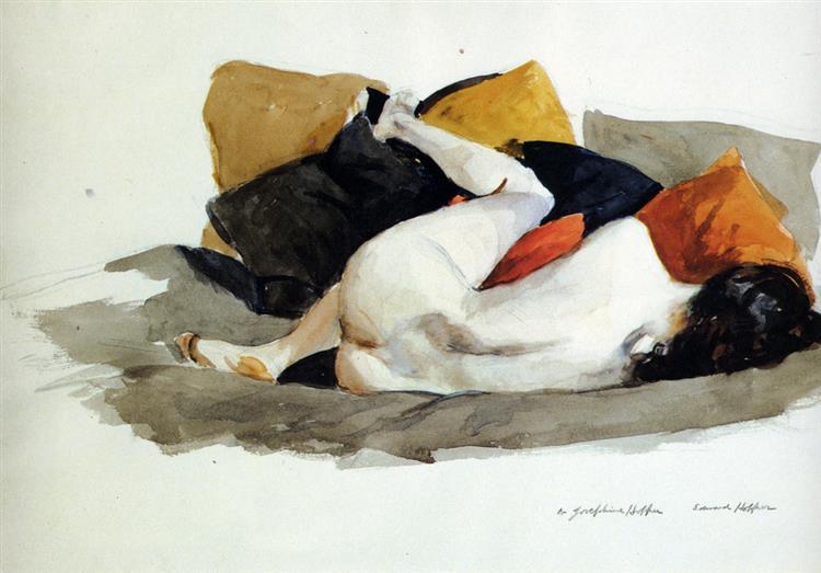 Reclining Nude, 1924 - Edward Hopper
