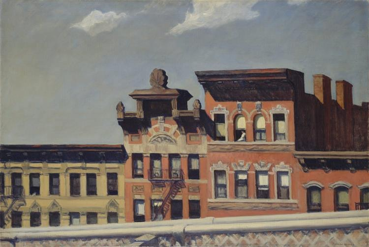 From Williamsburg Bridge, 1928 - Edward Hopper