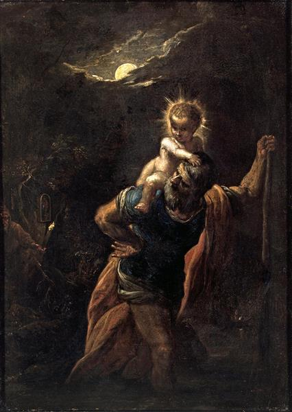 Saint Christopher, 1599 - Adam Elsheimer