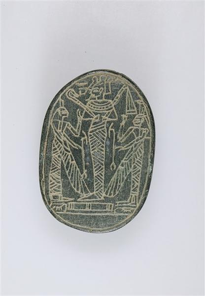 Heart Scarab, c.1295 - c.1070 BC - Ancient Egyptian Painting