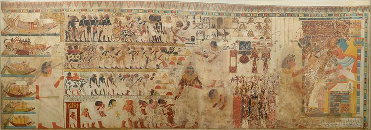 Nubian Tribute Presented to the King, Tomb of Huy, c.1353 - c.1327 BC - Ancient Egypt
