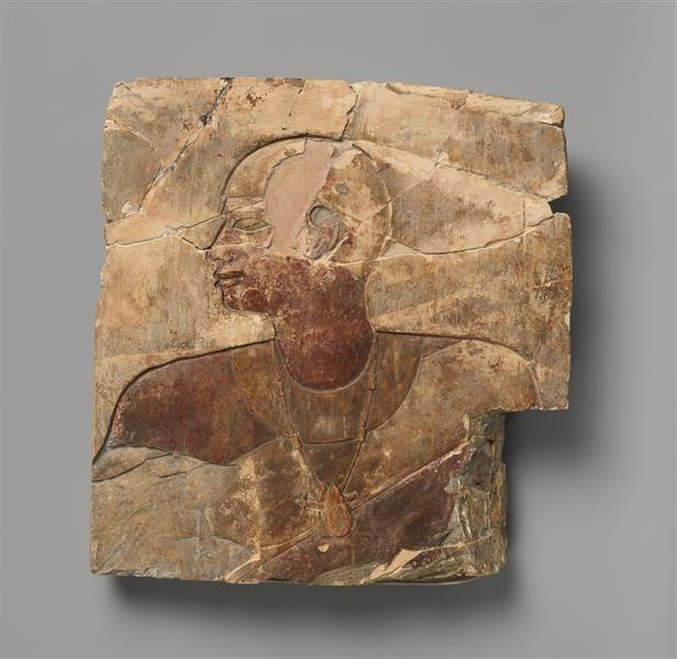 Relief Attributed to Petamenophis, c.710 - c.640 BC - Ancient Egyptian Painting