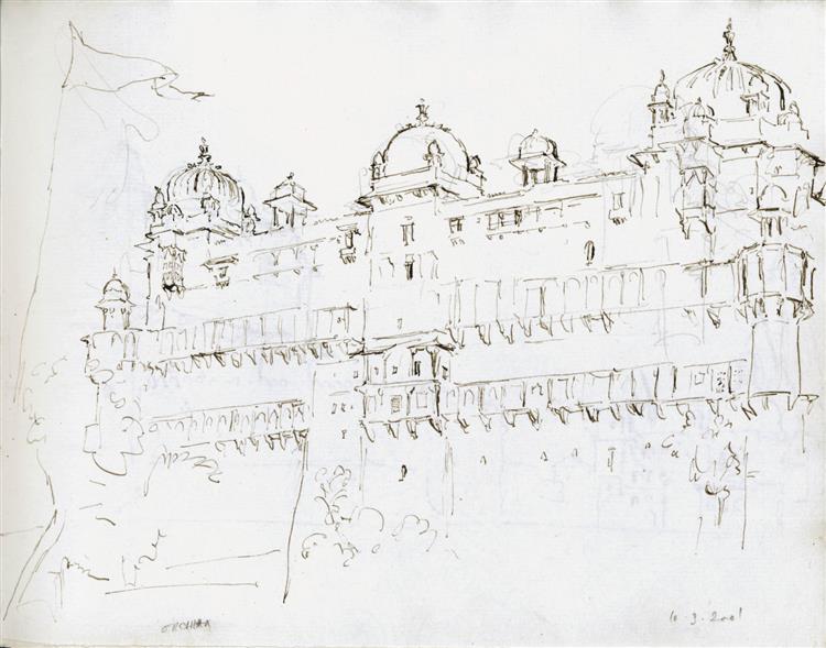 Jahangir Mahal, Orchha, 2001 - Martin Yeoman