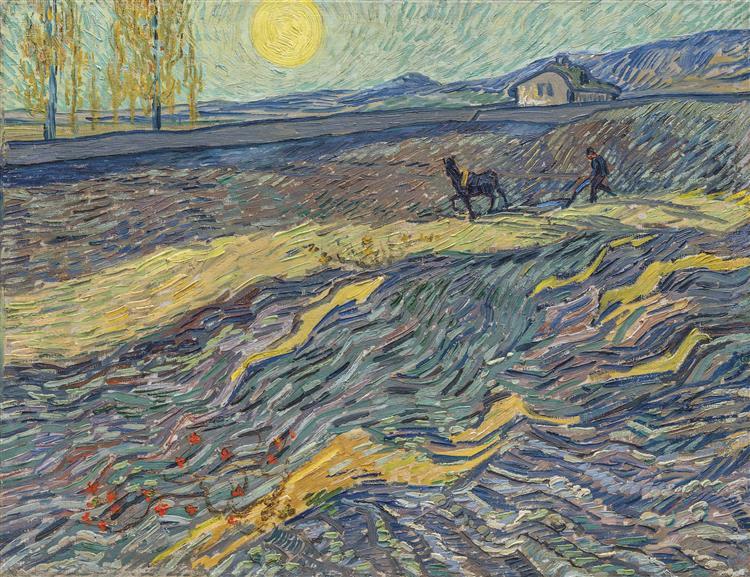Laboureur dans un Champ, 1889 - Vincent van Gogh