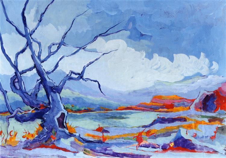Albero blu, 1980 - Paolo Salvati