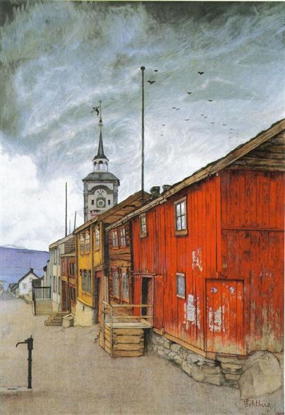Rua em Røros - Harald Sohlberg