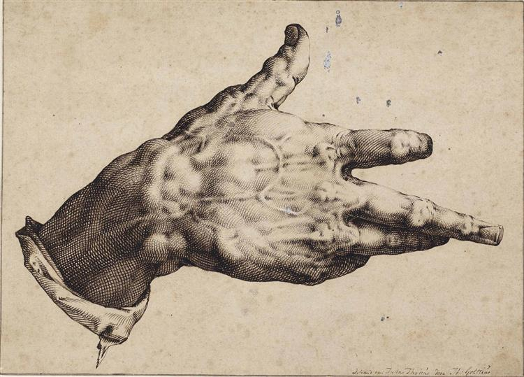 The Artist's Right Hand, 1588 - Hendrick Goltzius