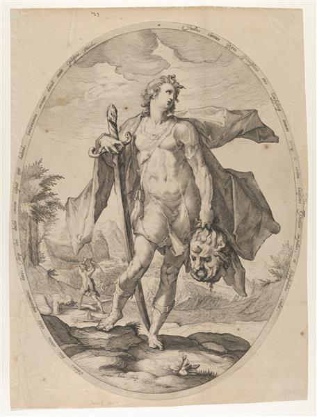 David, 1597 - Hendrick Goltzius