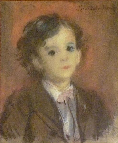 Portrait d'Edmond, Fils de l'artiste, c.1865 - Alfred Dehodencq